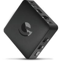 Antenne - Parabole EMATIC SRT202 Box Android TV  UHD 4K - Netflix - You Tube - Google - Lecteur multimedia Smart TV (Wifi. LAN. Bluetooth. IPTV. Quad C