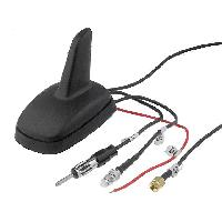 Antennes Antenne Aileron de requin AM FM GPS GSM DIN FME-A SMA-A noir 12VDC 2.15dBi ADNAuto