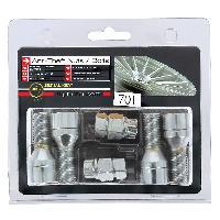 AntiVol de Roues 4 Vis Antivol 14x150 Coniques L28mm - 2 Cles Avec Numero De Series