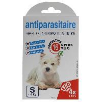 Antiparasitaire - Pipette - Lotion - Collier - Pince - Spray -shampoing - Crochet Tique AGROBIOTHERS 4 sachets de solution anti-puces et anti-tiques - Pour petit chien