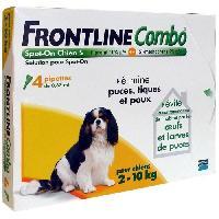 Antiparasitaire - Pipette - Lotion - Collier - Pince - Spray -shampoing - Crochet Tique Combo 4x0.67ml - Pour chien de 2-10kg