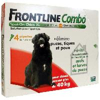 Antiparasitaire - Pipette - Lotion - Collier - Pince - Spray -shampoing - Crochet Tique Combo 4x4.02ml - Pour chien de 40-60kg