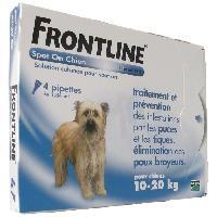Antiparasitaire - Pipette - Lotion - Collier - Pince - Spray -shampoing - Crochet Tique Pipettes 4x1.34ml - Pour chien de 10-20kg