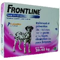 Antiparasitaire - Pipette - Lotion - Collier - Pince - Spray -shampoing - Crochet Tique Pipettes 6x2.68ml - Pour chien de 20-40kg