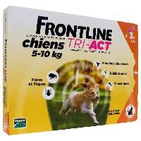 Antiparasitaire - Pipette - Lotion - Collier - Pince - Spray -shampoing - Crochet Tique Tri-Act 3x1ml - Pour chien de 5-10kg