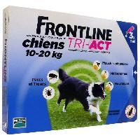 Antiparasitaire - Pipette - Lotion - Collier - Pince - Spray -shampoing - Crochet Tique Tri-Act 3x2ml - Pour chien de 10-20kg