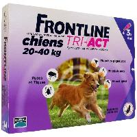 Antiparasitaire - Pipette - Lotion - Collier - Pince - Spray -shampoing - Crochet Tique Tri-Act 3x4ml - Pour chien de 20-40kg