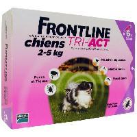 Antiparasitaire - Pipette - Lotion - Collier - Pince - Spray -shampoing - Crochet Tique Tri-Act 6x0.5ml - Pour chien de 2-5kg