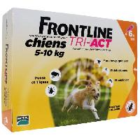 Antiparasitaire - Pipette - Lotion - Collier - Pince - Spray -shampoing - Crochet Tique Tri-Act 6x1ml - Pour chien de 5-10kg