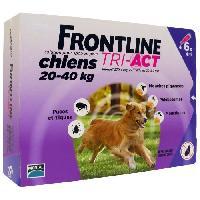 Antiparasitaire - Pipette - Lotion - Collier - Pince - Spray -shampoing - Crochet Tique Tri-Act 6x4ml - Pour chien de 20-40kg