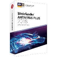 Antivirus BITDEFENDER Antivirus Plus 2018 - 2 ans - 3 PC