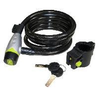 Antivol Antivol Spiral Ø12 1800mm clé+support - MID