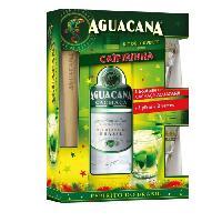 Aperitif Coffret Caipirinha - Cachaça Aguacana + 1 pilon + 2 verres - 37.5%vol - 70cl