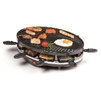 Appareil A Raclette DO9038G Raclette-gril - Pour 8 personnes - 1200W - Noir