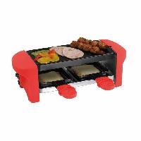 Appareil A Raclette DOC156 Appareil a raclette Pour 2 personnes 350W - RougeNoir