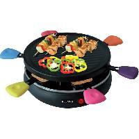 Appareil A Raclette ETF1617 Raclette Grill - Jusqu'a 6 personnes - 24.8 cm de diametre - 800W - Noir