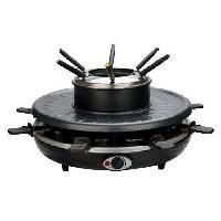 Appareil A Raclette E.ZICHEF Appareil a raclette et fondue Winter Party 8 personnes - Noir