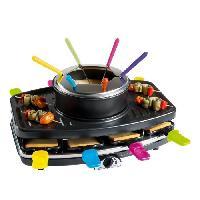 Appareil A Raclette LIVOO DOC107 Appareil a raclette et fondue 8 personnes - Noir - Domoclip
