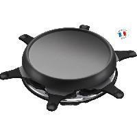 Appareil A Raclette MOULINEX RE151812 Appareil a raclette multifonctions plancha et crepes 6 Personnes Noir