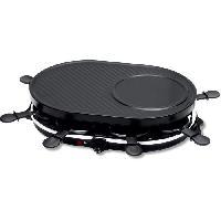 Appareil A Raclette NAELIA RGL-H3002-NAE Appareil a raclette 8 personnes - Noir - Ariete