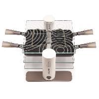 Appareil A Raclette Raclette Transparence 009404 - 600 W - Verre trempe - 4 personnes - Taupe