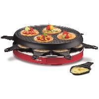 Appareil A Raclette TEFAL RE138512 Appareil a raclette multifonctions Colormania 8 personnes Rouge