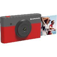 Appareil Photo Numerique Compact AGFA AMS23RD Mini Appareil photo imprimante 2en1 - 23 - Rouge