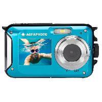 Appareil Photo Numerique Compact AGFA PHOTO Realishot WP8000 - Appareil Photo Numerique Etanche -Video HD. Double ecran LCD. Zoom Digital 16x- - Bleu