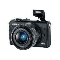 Appareil Photo Numerique Compact CANON EOS M100 Appareil photo Hybride - Noir + EF-M 15-45 mm IS STM