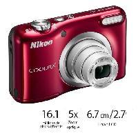Appareil Photo Numerique Compact COOLPIX A10 Rouge Appareil photo compact