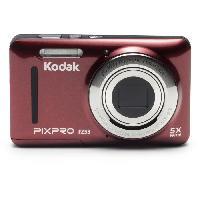 Appareil Photo Numerique Compact KODAK CZ53 - Kodak PixPro - Appareil photo Compact - Zoom Optique x5 -Capteur CCD 16 millions de pixels - Écran LCD 2.7'' - Rouge