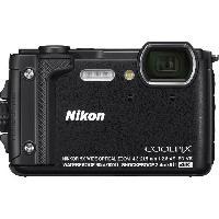 Appareil Photo Numerique Compact NIKON - COOLPIX W300 - Etanche - Resistant aux chutes. gel et poussiere - Zoom optique 3x - Capteur 16M - Video 4K - Noir