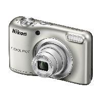 Appareil Photo Numerique Compact NIKON COOLPIX A10 - 16Mp - 5x. 2.7 230 000 pixels - piles AA - etui silver