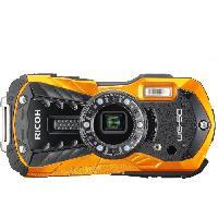 Appareil Photo Numerique Compact RICOH WG 50 Orange - Compact outdoor 16 MP + Etui Neoprene