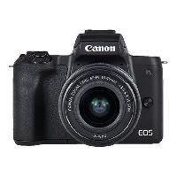 Appareil Photo Numerique Hybride CANON EOS M50 15-45 STM Appareil photo Hybride Capteur APS-C 24 MP - Ecran tactile orientable - Noir
