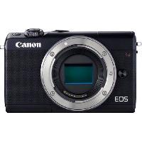 Appareil Photo Numerique Hybride Canon EOS M100 Appareil photo numerique sans miroir 24.2 MP APS-C 1080p - 60 pi-s corps uniquement Wi-Fi. NFC. Bluetooth noir