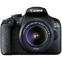 Appareil Photo Numerique Reflex CANON - Appareil photo Reflex EOS 2000D + Objectif 18-55mm EF-S 18-55 DC III - 24 Mpixels - Vidéo Full HD 1080p - Ecran 7.5cm