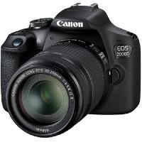 Appareil Photo Numerique Reflex CANON EOS 2000D 24.1 megapixels - Wi-Fi - NFC + Objectif EF-S 18-55 IS II