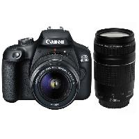 Appareil Photo Numerique Reflex CANON EOS 4000D 18 Mpx + Objectif EF-S 18-55 III + EF 75-300 F-4-5.6 III