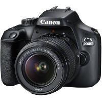 Appareil Photo Numerique Reflex CANON EOS 4000D 18 mégapixels - Wi-Fi + Objectif EF-S 18-55 III Appareil Photo Reflex- DC