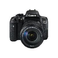 Appareil Photo Numerique Reflex Canon EOS 750D - Appareil photo numerique Reflex + objectif EF-S 18-135 mm - - 24.2 MP - APS-C - 1080p - 7.5x zoom optique