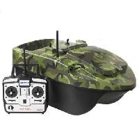 Appat - Attractif Animaux Bateau Amorceur Pacboat Start'r Evo Forest Camo + Telecommande