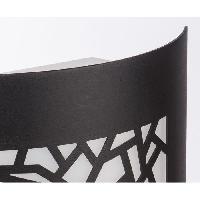 Applique Exterieure TRAZOS Applique murale exterieure en metal finition noir et diffuseur en PVC