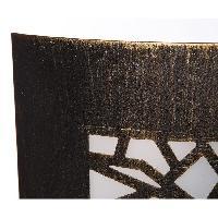 Applique Exterieure TRAZOS Applique murale exterieur en metal finition noir or et diffuseur en PVC