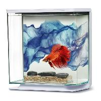Aquarium Kit aquarium equipe Voile Bleu pour betta - 3L