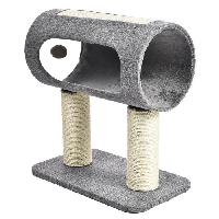 Arbre A Chat BUBIMEX Griffoir cylindre - 2 poteaux - 49 x 29 x 54 cm - Pour chat