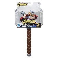Arme Fictive - Baton - Epee - Baguette AVENGERS ENDGAME - Marteau Electronique de Thor avec Sons et Lumieres - Coffret Marvel Avengers Legends Edition Collector