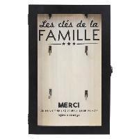 Armoire - Boite A Cle Boite a clés - Bois - 19 x 30 cm - Beige et noir - Generique