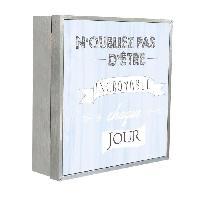 Armoire - Boite A Cle N'OUBLIEZ PAS Boîte a clés 20x20 cm Gris et blanc - Generique