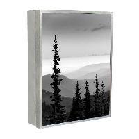 Armoire - Boite A Cle PIN Boîte a clés 18x24 cm Noir. gris et blanc - Generique